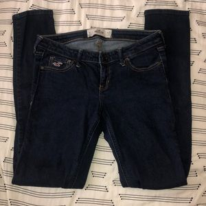 Hollister skinny dark denim jeans